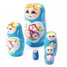 Lovely Russian Nesting Matryoshka 5-Piece Wooden Doll Set