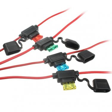 Waterproof Car Auto 10/15/20/30A Amp In Line Blade Fuse Holder Fuses