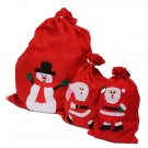 Lovely Santa Claus Red Stocking Fabric Bag Christmas Gift Bag