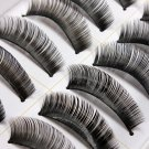 10 Pairs Fashion Black Long Volume False Eyelash Eye Makeup 010