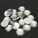 20pcs 20mm Acrylic Clear Half Round Rhinestone Flatback DIY Decoration