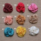 Multi-coloured Fabric Boutonniere Stick Brooch Pin Handmade Corsage