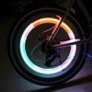 Car Bicycle Tire Spoke Wheel Alarm Blue LED Light Lamp Flash Tyre