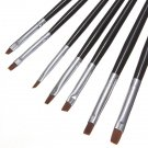 7Pcs Acrylic UV Gel Nail Art Drawing Polish Brushes Pen Set