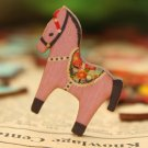 50Pcs Mixed Horse Wooden Buttons 2 Holes Sewing Scrapbooking