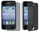 Privacy Secret Screen Protective Front Back Film For iPhone 4 4s