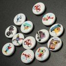 100pcs Mixed Transport Buttons 2 Holes Sewing Scrapbooking Craft DIY