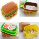Creative Hamburger Pencil Sharpener With 2 Eraser And Pencil Cutter