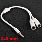 NEW 3.5mm Jack Headset Headphone Audio Splitter Adapter