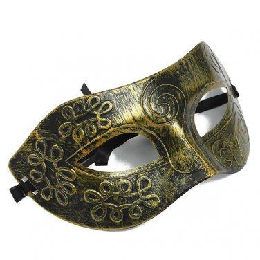 Retro Men Roman Gladiator Eye Mask Venetian Masquerade Mask