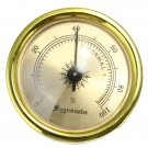 Precision Analog Hygrometer Moisture Meter For Tobacco Cigar Humidor