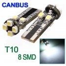 T10 W5W 194 927 161 CANBUS 8 SMD 3528 LED Side Light Bulb
