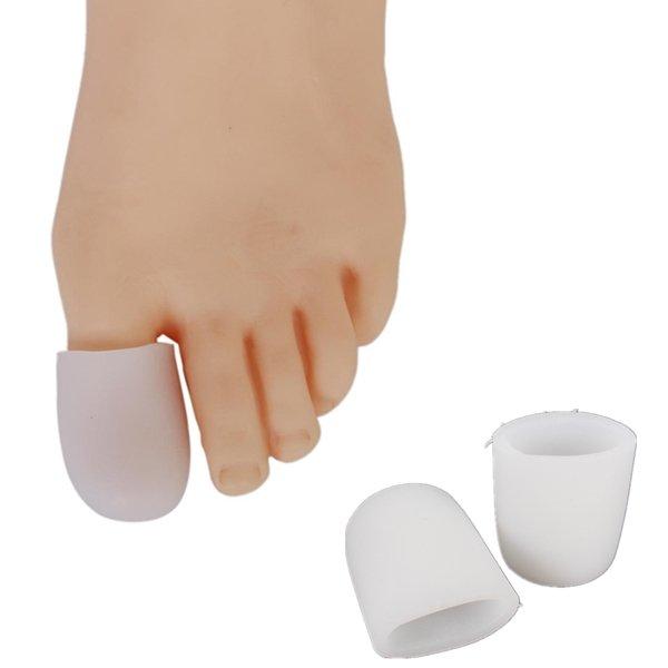 2Pcs Soft Silicone Gel Toe Separators Straightener Bunion Protector