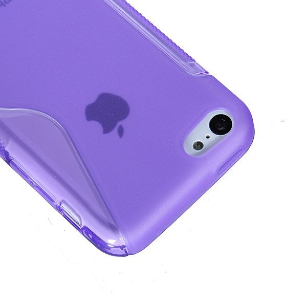 S-Line TPU Silicone Rubber Gel Back Case Cover For iPhone 5C