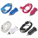 2 in 1 Car Charger Adapter  For iPhone 4 4S 3GS 3G 2G iPod Touch