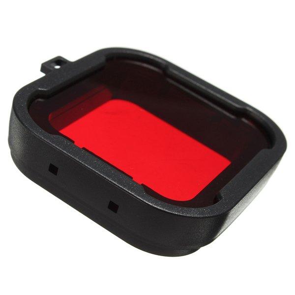 Polarizer Red Color Underwater Diving UV Lens Filter For GoPro Hero3+