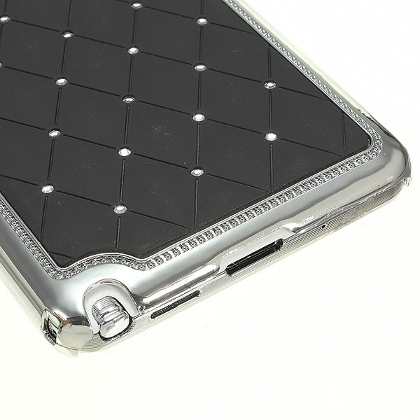 Aluminum Chrome Bling Diamond Case For Samsung Galaxy Note 3 N9000