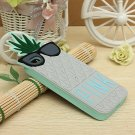 Vivid Pineapple Shape Silicon Protector Case Cover For iPhone 5 5S