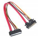 Male To Female 7+15 Pin Serial ATA SATA Data Power Extension Cable