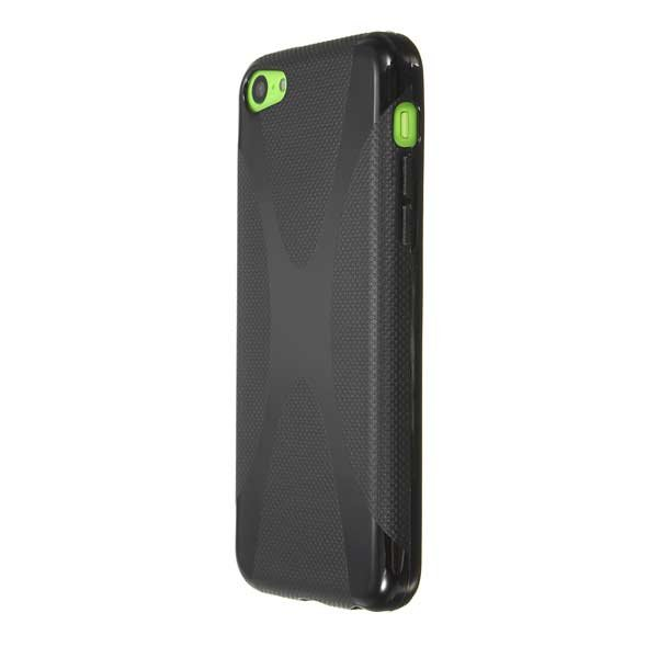 X-Line Shape Soft TPU Silicone Gel Case Cover For iPhone 5C
