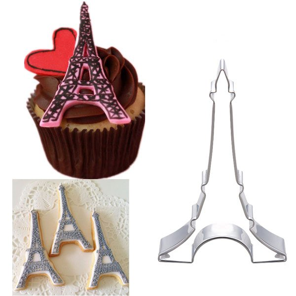 Stainless Steel Eiffel Tower  Cookie Cutter Cake Sushi Mold