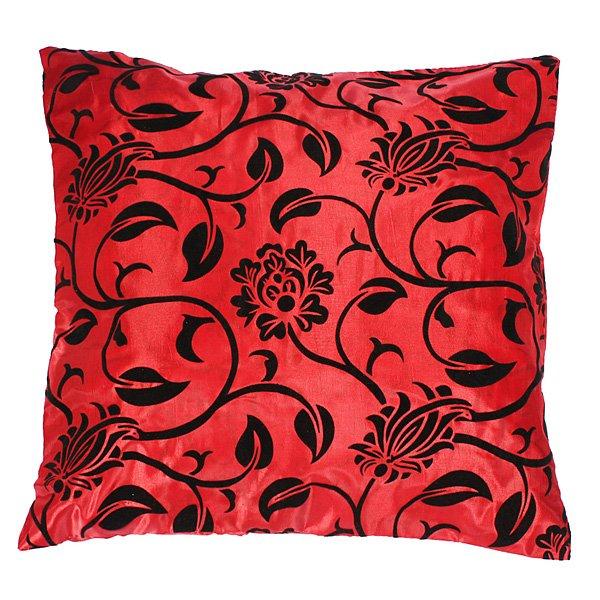 Silk Flower Pattern Throw Pillow Cushion Case Sofa Bed Cover