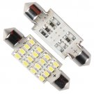 41mm 16 LED SMD Festoon Dome Light Car Bulb Xenon White