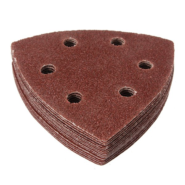 15Pcs 6 Holes Mixed Triangular Sanding Sheet Hook Sander Sandpaper