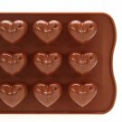 Heart Chocolate Cake Cookie Jelly Ice Baking Silicone Mould