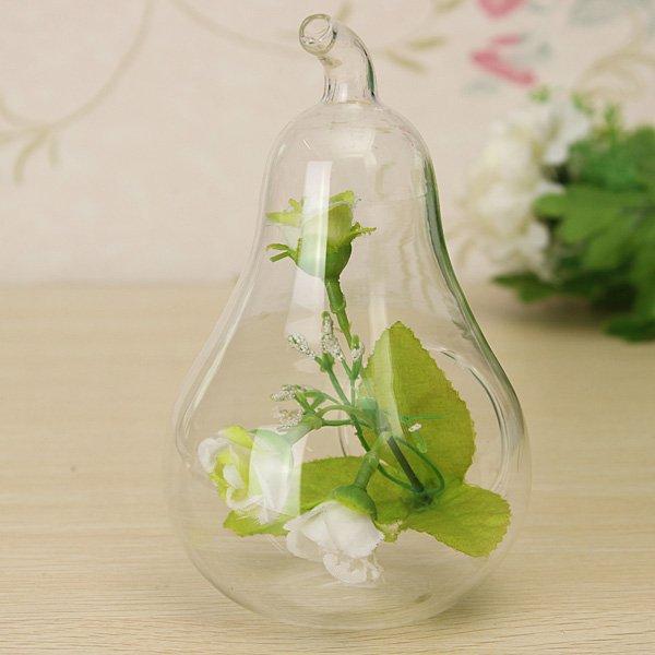 Apple/Pear Shape Crystal Hydroponic Plants Terrarium