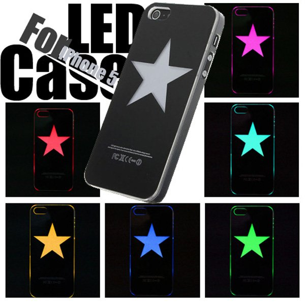 Star Pattern LED Color Change Flash Light Case For iPhone 5 5G