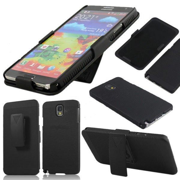 Black Belt Clip Bracket Slip Case For Samsung Galaxy Note 3 N9000