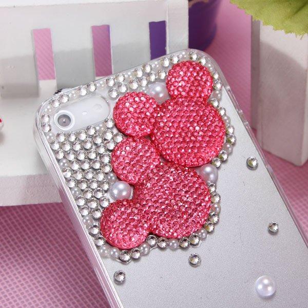 Lovely Cartoon Mouse Sparkle Crystal Diamond Case For iPhone 5