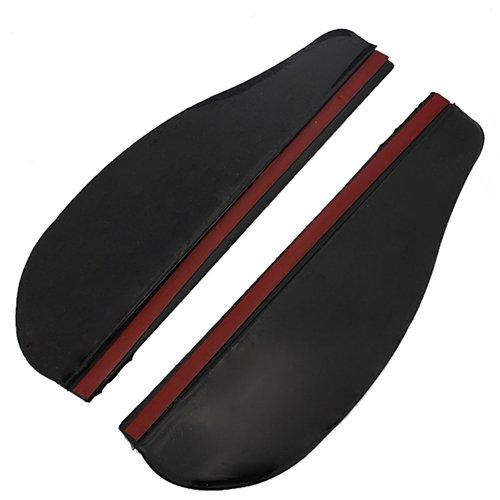 A Pair Car Plastic Rear View Mirror Rainproof Blade Black