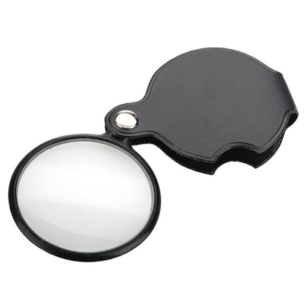 New 5X Black Mini Pocket Jewelry Magnifier Magnifying Glass Loupe