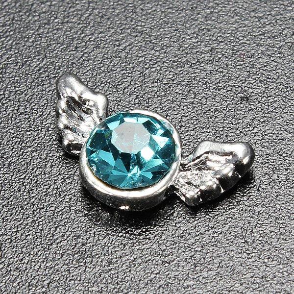 10pcs 3D Alloy Rhinestone Crystal Phone Nail Art Tips DIY Decoration