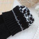 Zanzea Snowflake Wrist Long Knit Fingerless Gloves