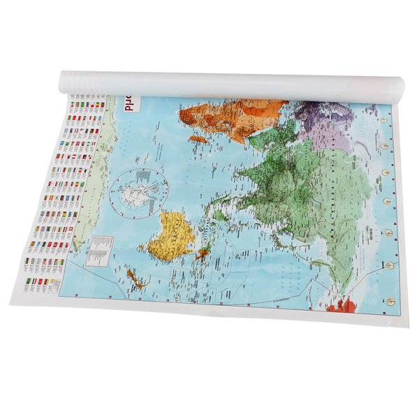 Large Map Of The World With Country Flags Wallpaper Home Decoration