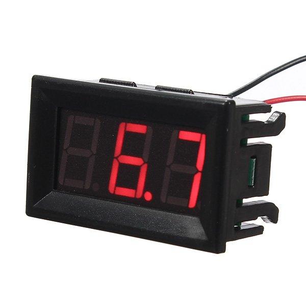 0.56 Inch 3-30V 5-120V LED Panel Voltage Meter 3 Digital Display Voltmeter