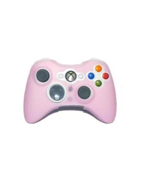 Pink Silicone Skin Case Cover for XBOX 360 Controller