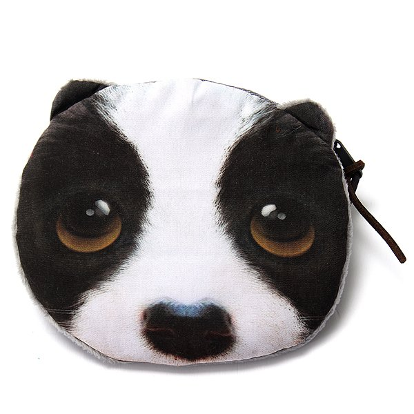 Lovely Dog Cat Face Coin Zipper Purse Pouch Pocket Mini Wallet