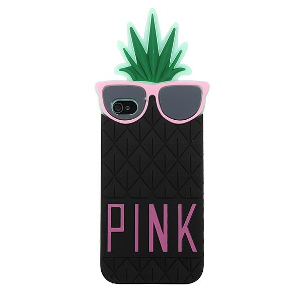 Cute Pineapple Shape Silicon Protector Case Cover For iPhone4 4S