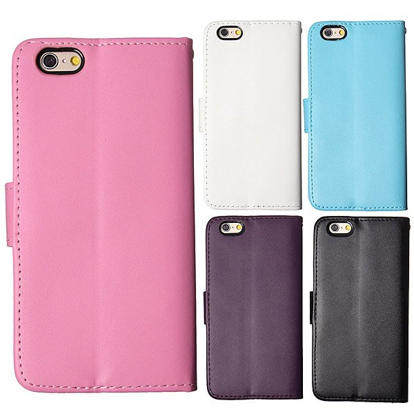 Retro PU Leather Flip Wallet Card Stand Case For iPhone 6