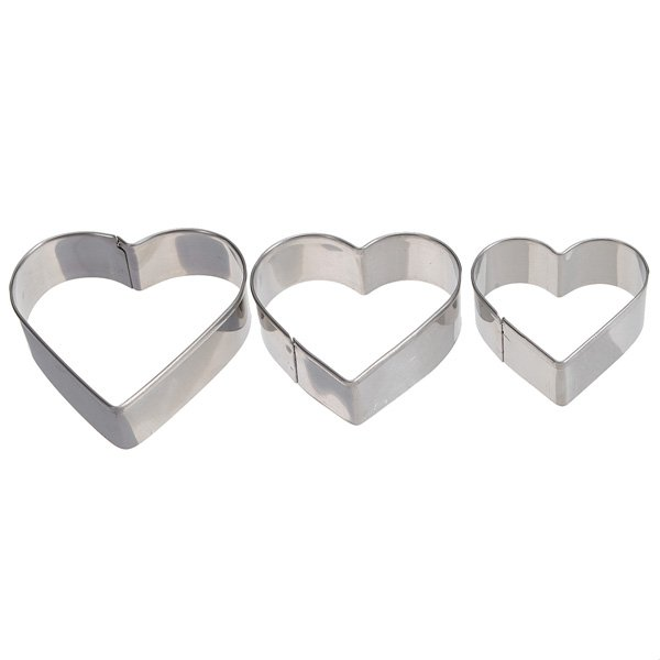 Stainless Steel Metal Heart Love Fondant Cake Decorating Mould