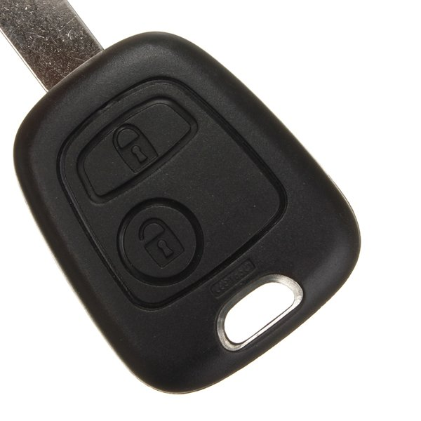 2 Button Remote Key shell Fob Case Blade For Peugeot 407 107 205