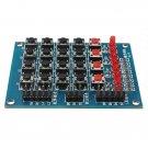 8 LED 4 x 4 Push Buttons Matrix Keypad 16 Key Switch Keyboard For Arduino AVR ARM STM32