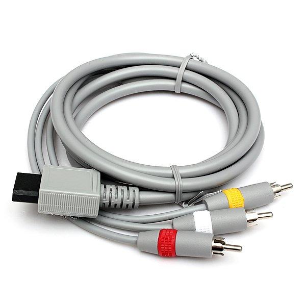 1.8m Audio Video AV TV Composite RCA Cable for Nintendo Wii Console
