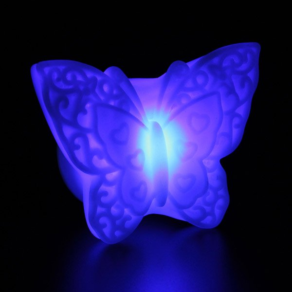 7 Color LED Electronic Butterfly Night Light Lamp for Christmas Party