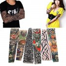 Goth Nylon Stretchy Fake Tattoo Leopard Sleeve Arm Stocking
