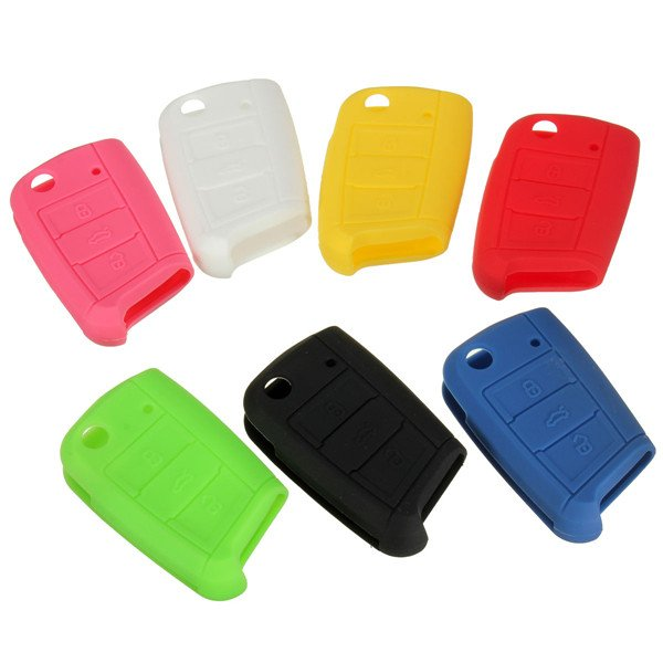 3 Button Silicone Remote Key Cover Protective Case Fob For VW MK7